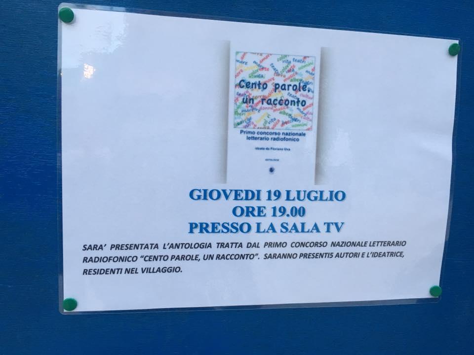 """Presentazione del libro: CENTO PAROLE UN RACCONTO"""" Serra Alimini 1 Otranto (LE)"""