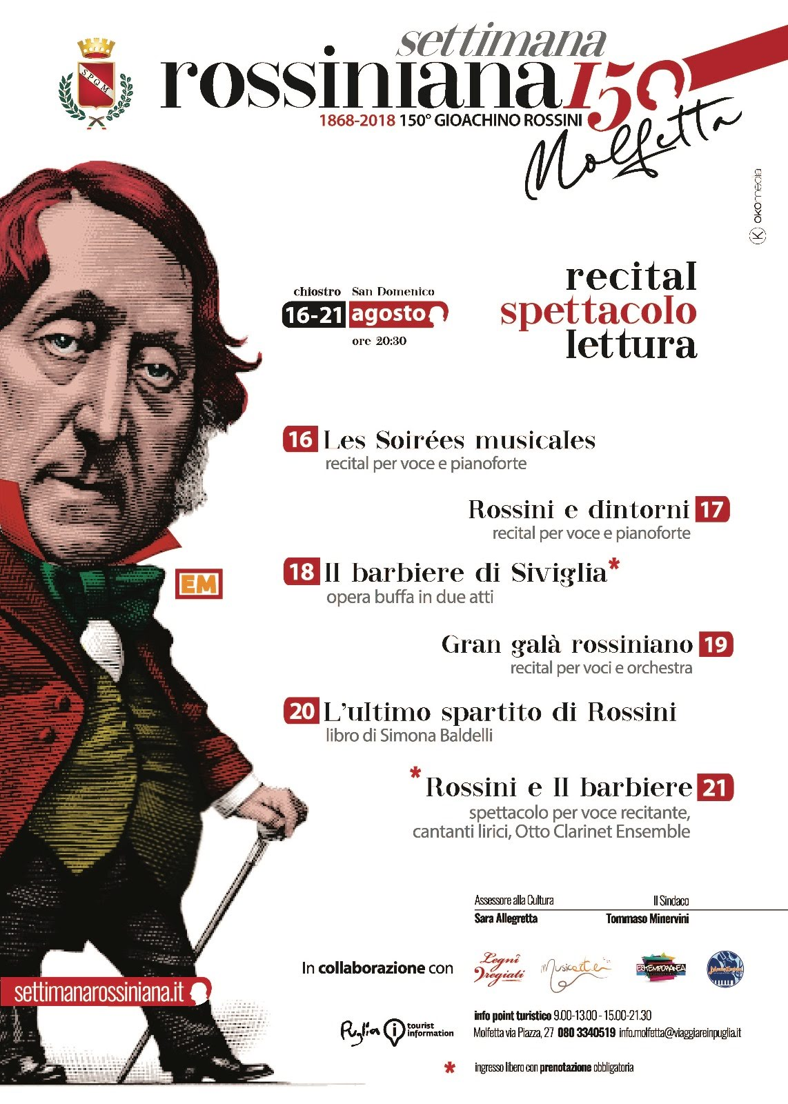 """La settimana rossiniana – """"Rossini 150""""  a Molfetta"""