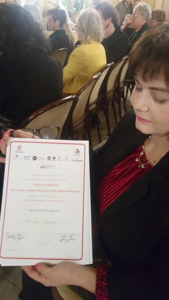 """Ottava edizione il Premio """"Porta d'Oriente"""", Cultura e Libero Sviluppo del Mediterraneo,"""