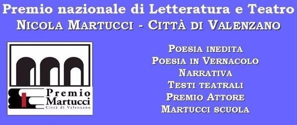 Premio nazionale di Letteratura e Teatro NICOLA MARTUCCI-CITTÀ DI VALENZANO EDIZIONE 2019