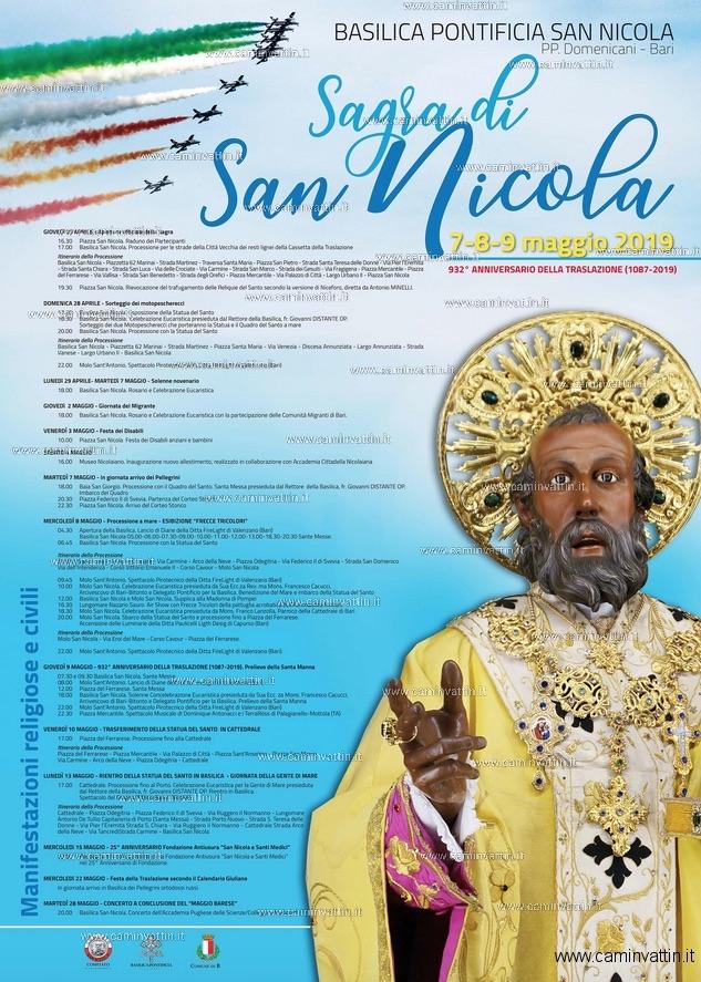 PROGRAMMA: SAGRA di SAN NICOLA 2019
