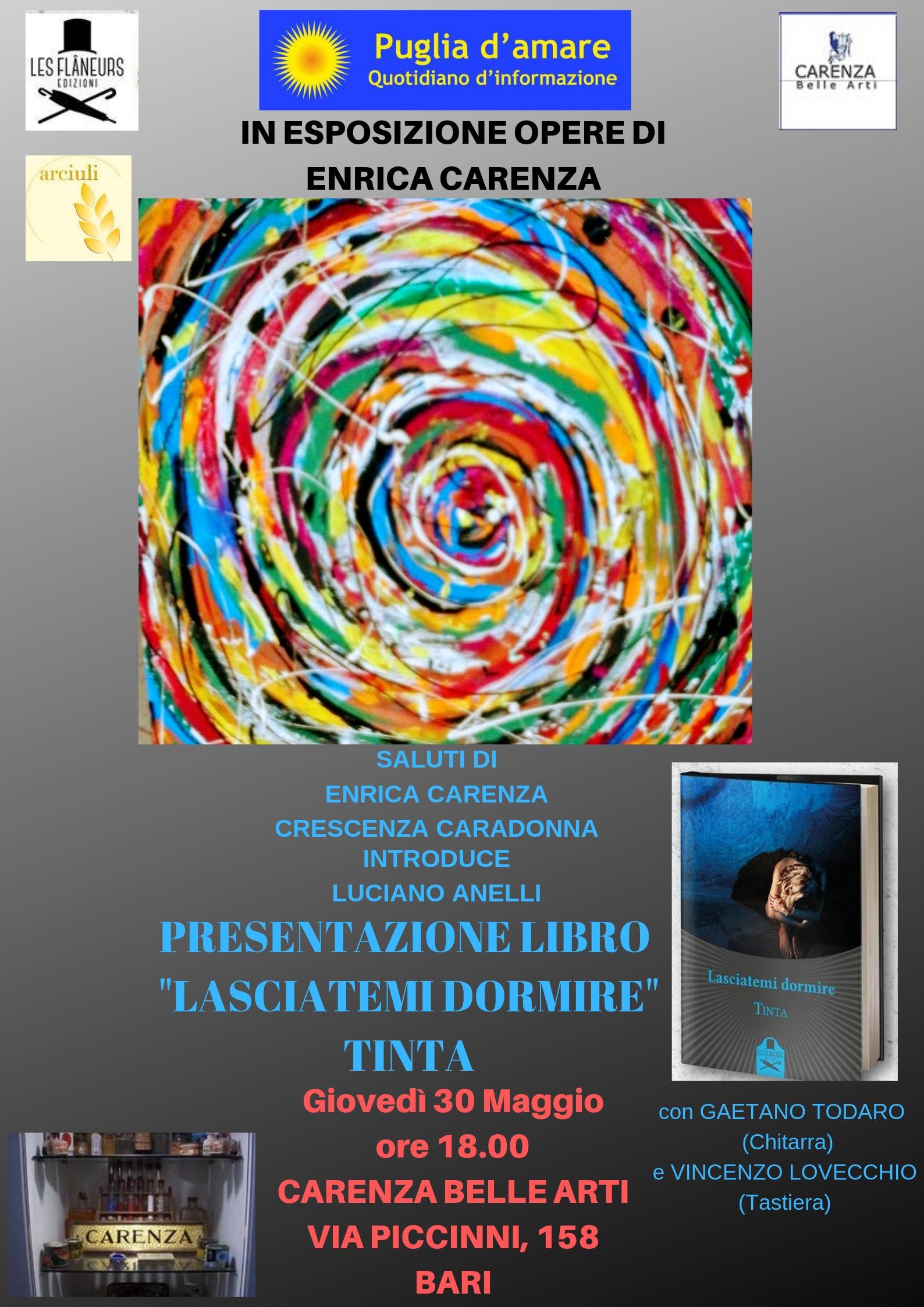 """Presentazione del libro: """"LASCIATEMI DORMIRE"""" di Tinta"""