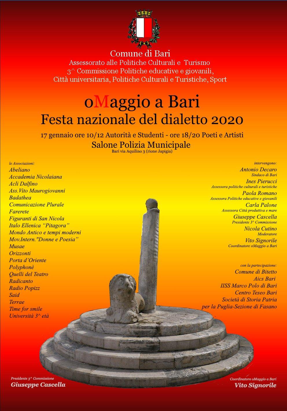 oMAGGIO A BARI: Festa nazionale del dialetto 2020
