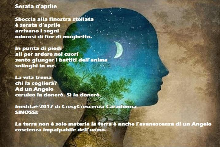"""Una poesia al giorno…""""SERATA D'APRILE"""" di Cresy Caradonna"""