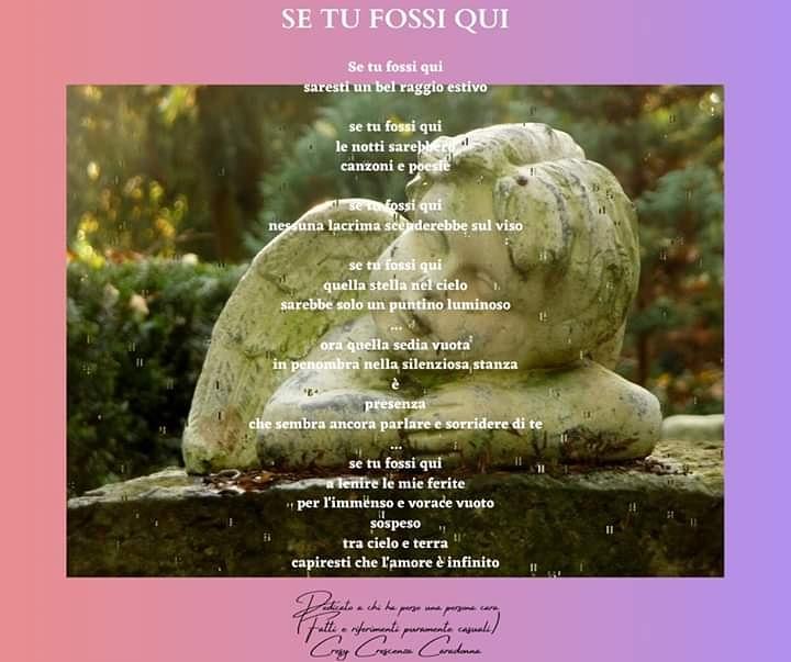 """""""SE TU FOSSI QUI"""" di Cresy Caradonna"""