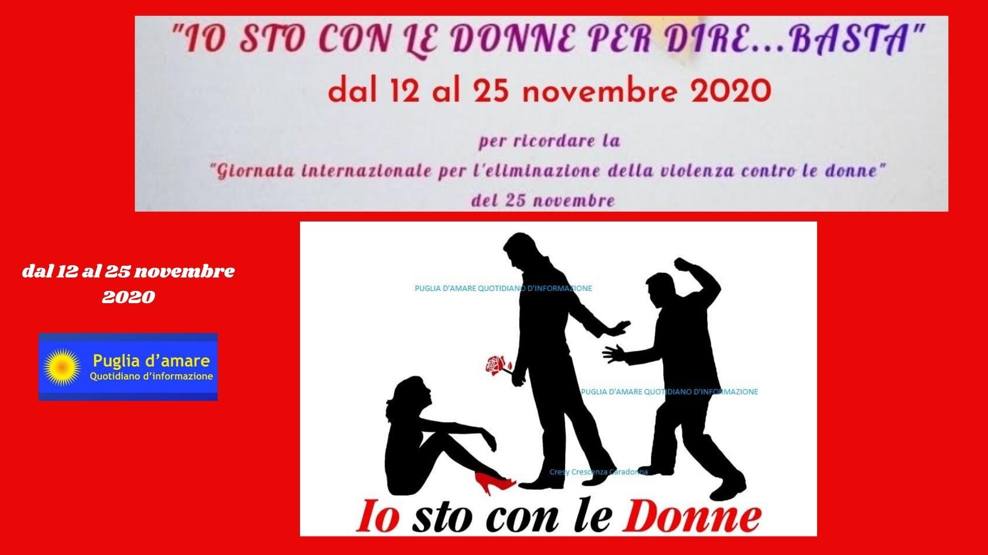 CONTRO LA VIOLENZA DI GENERE: #iostoconledonneperdirebasta
