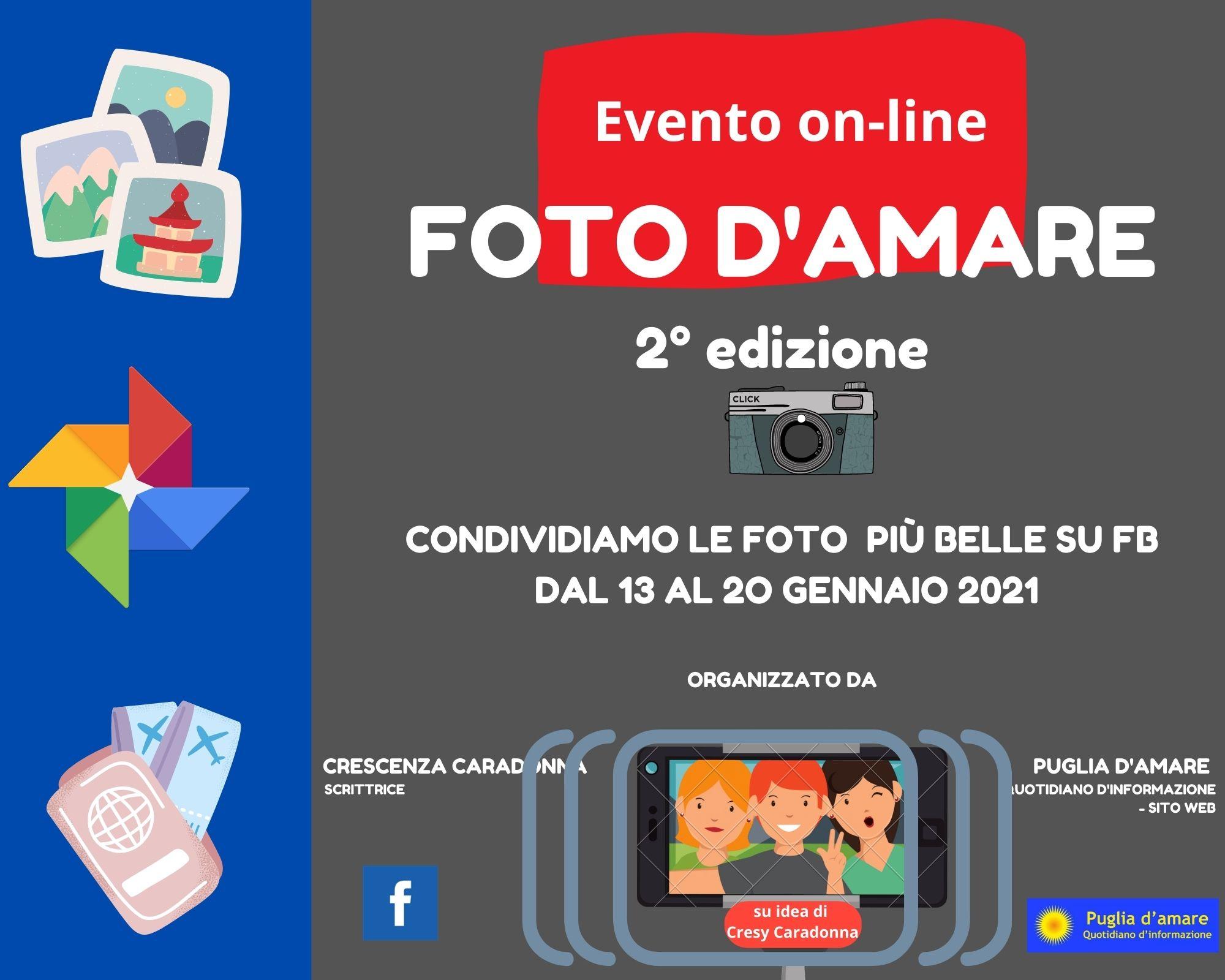"""""""FOTO D'AMARE 2° edizione"""" EVENTO ON-LINE DI FB GRATUITO"""