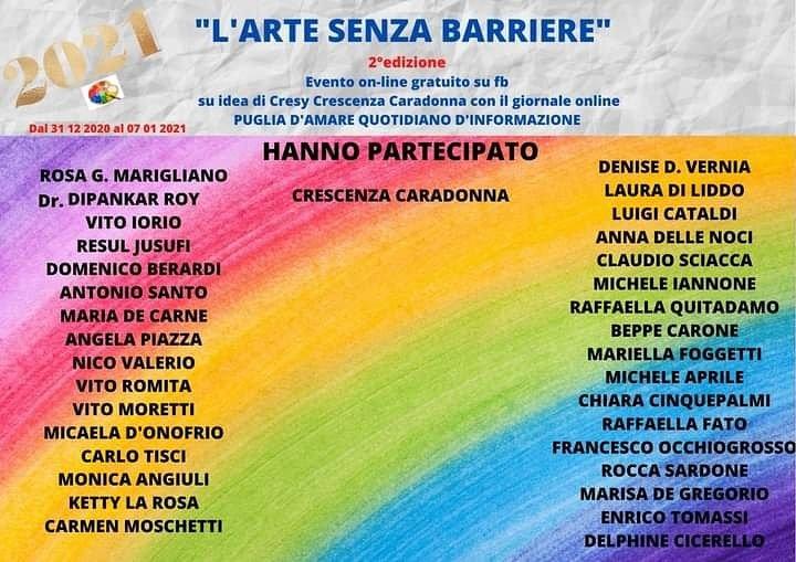 """""""L'ARTE SENZA BARRIERE"""" 2°edizione"""