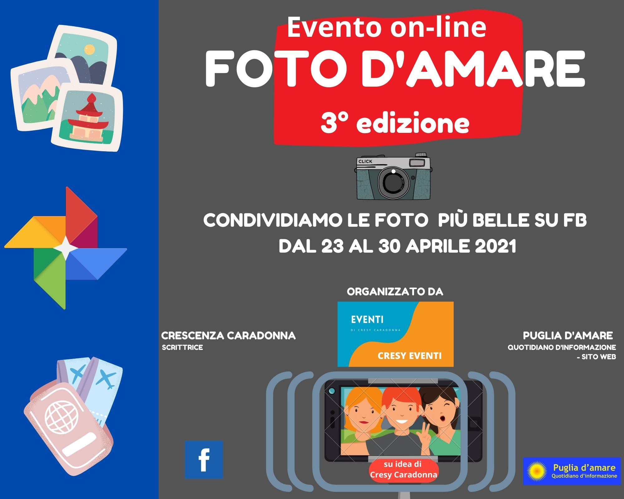 "Evento on-line: ""FOTO D'AMARE"" 3° edizione"